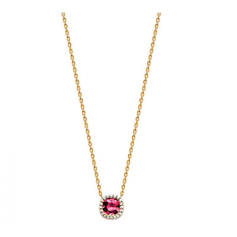 collier femme or pierre